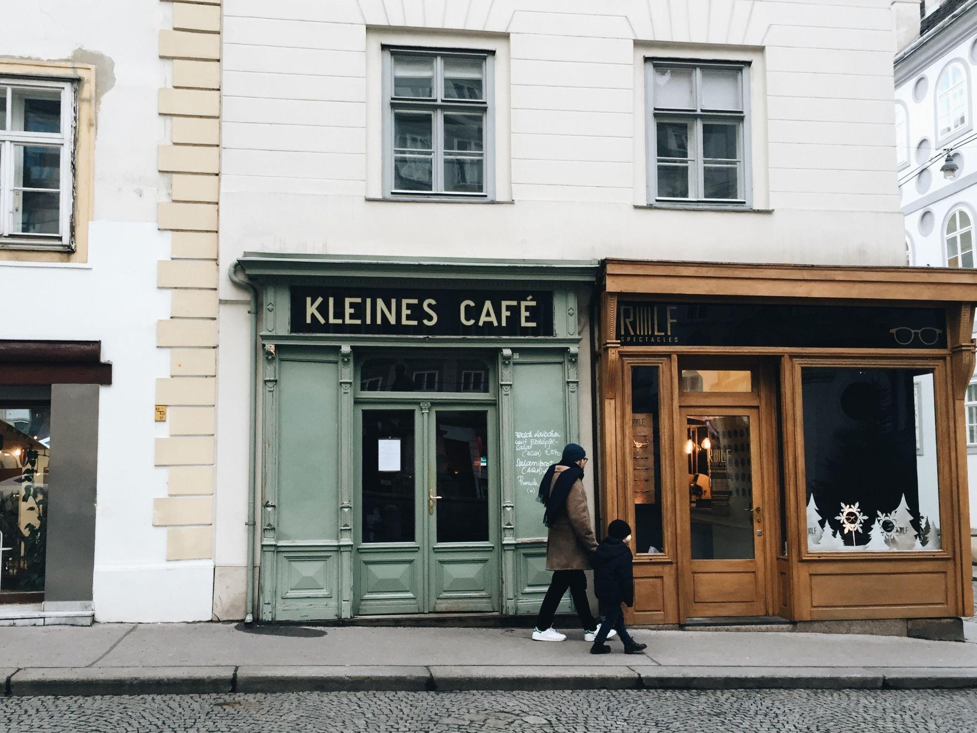 Kleines Cafe in Vienna, Austria