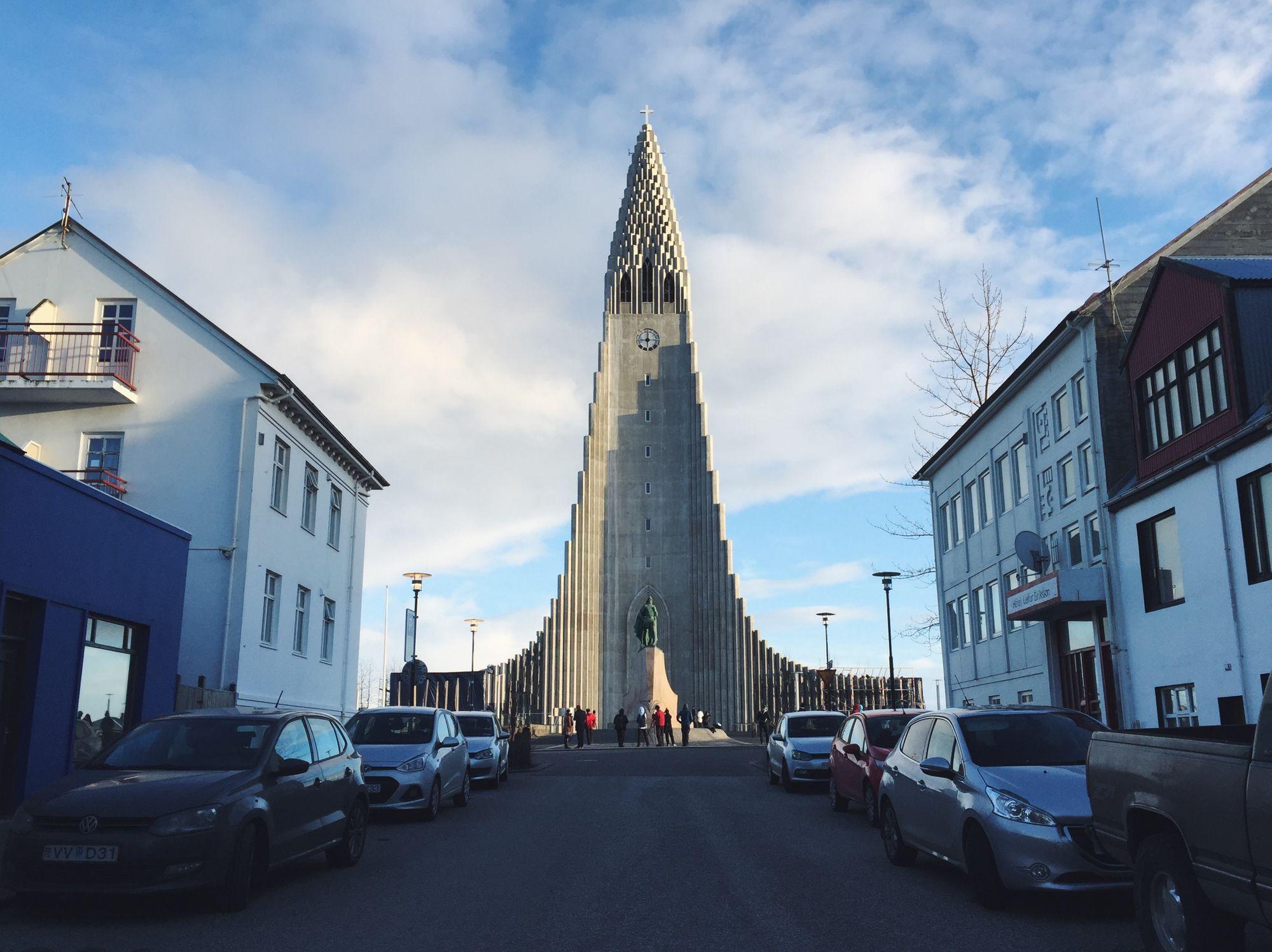 Hallgrímskirkja Cathedral in Rejkavik, Iceland.