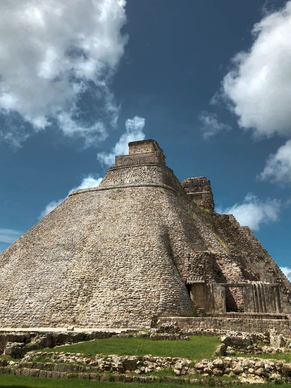 The Temple of the Magician at Uxmal.