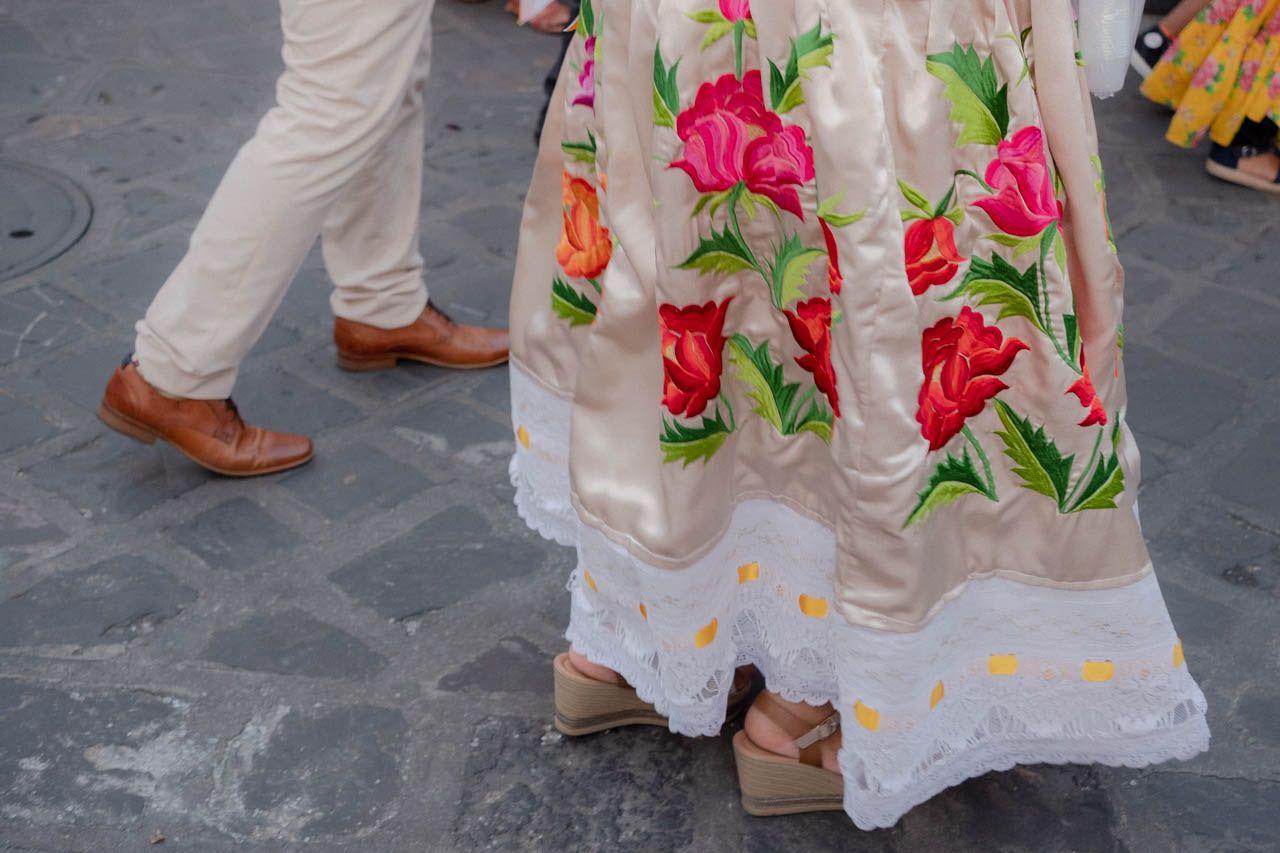 Dress in Oaxaca, Mexico.