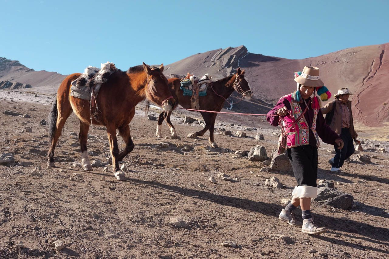 Rainbow Mountain horseman.