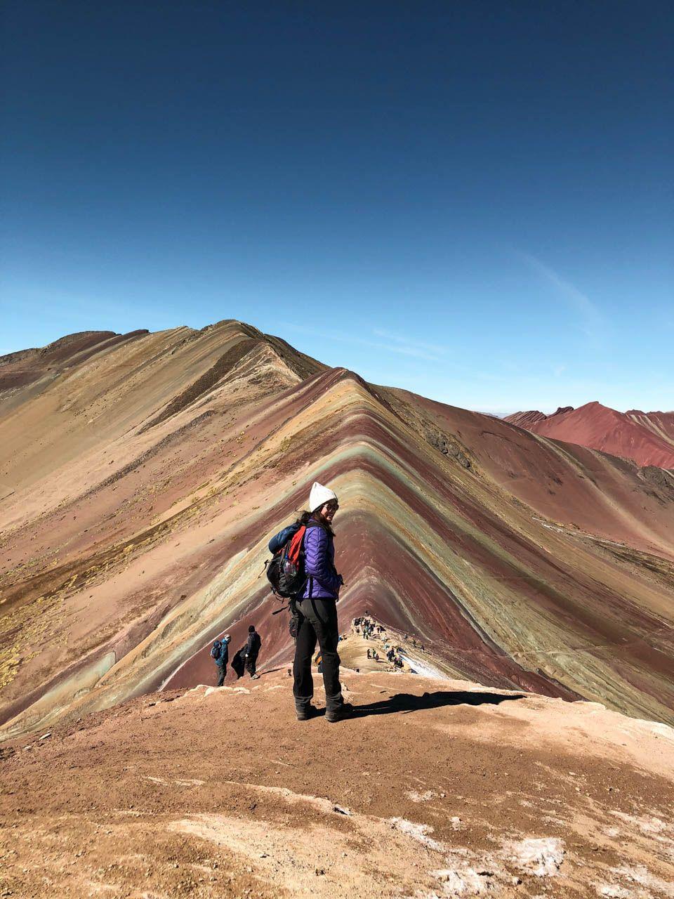 On top of Rainbow Mountain, Peru.
