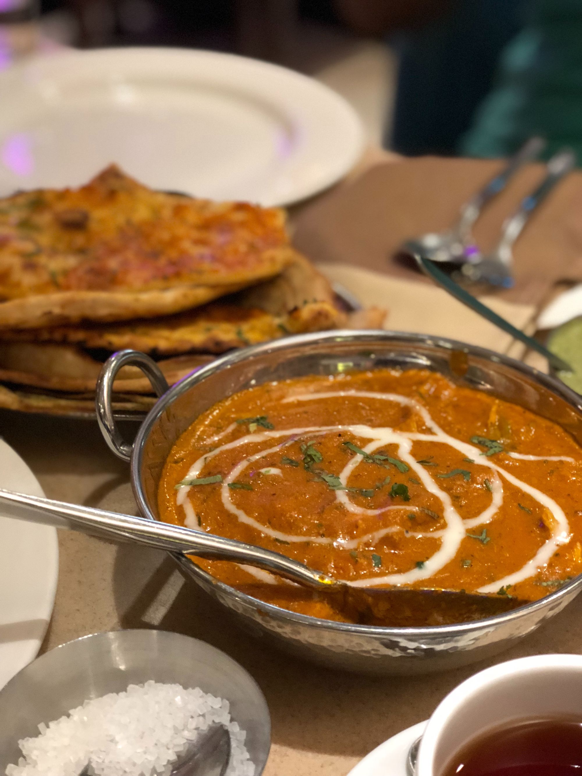 Butter chicken at Have More's in Delhi, India.