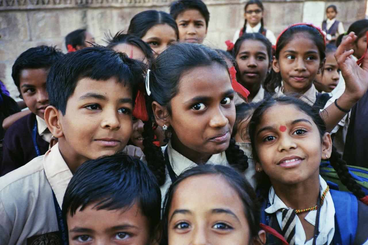 school kids in Jodhpur, India